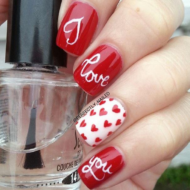 love msg nail art