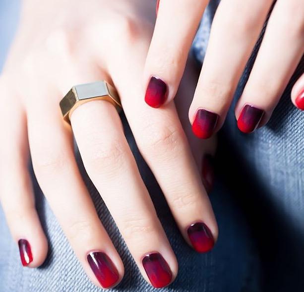 shaded nail art
