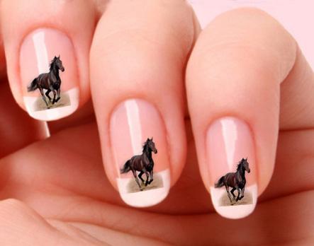 transfer nail art