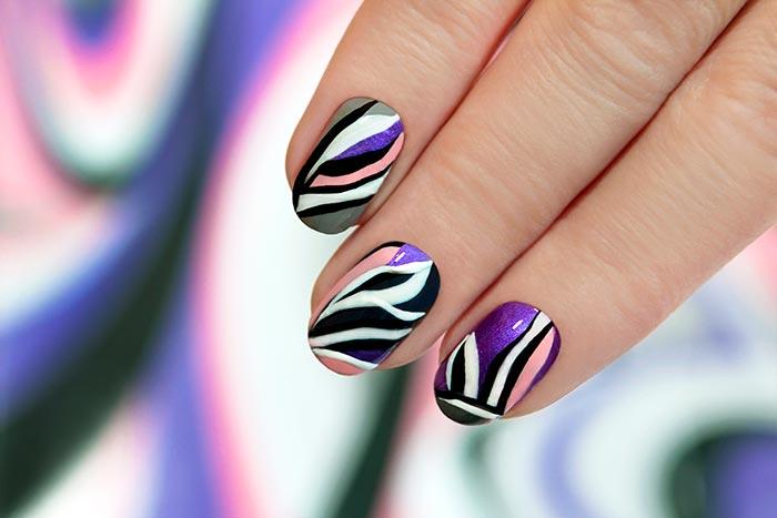 wavy nail art