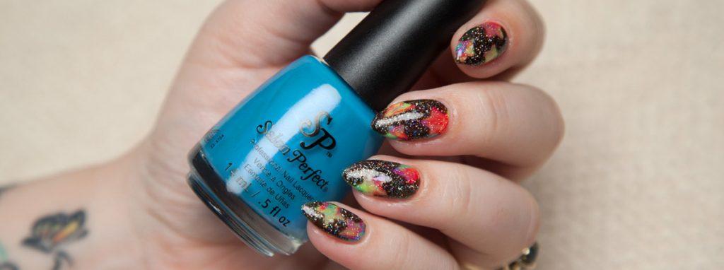 galaxy nail art