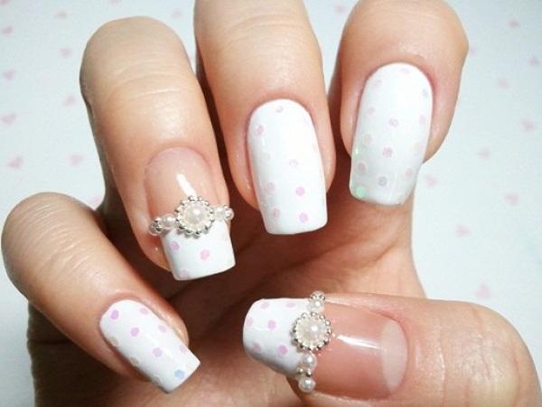 pearl nail art